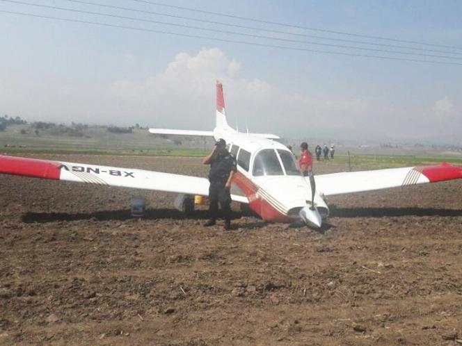 Avioneta realiza aterrizaje forzoso cerca del Nevado de Toluca