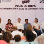 Benefician en Madero a más de 4 mil ciudadanos con obras de pavimentación