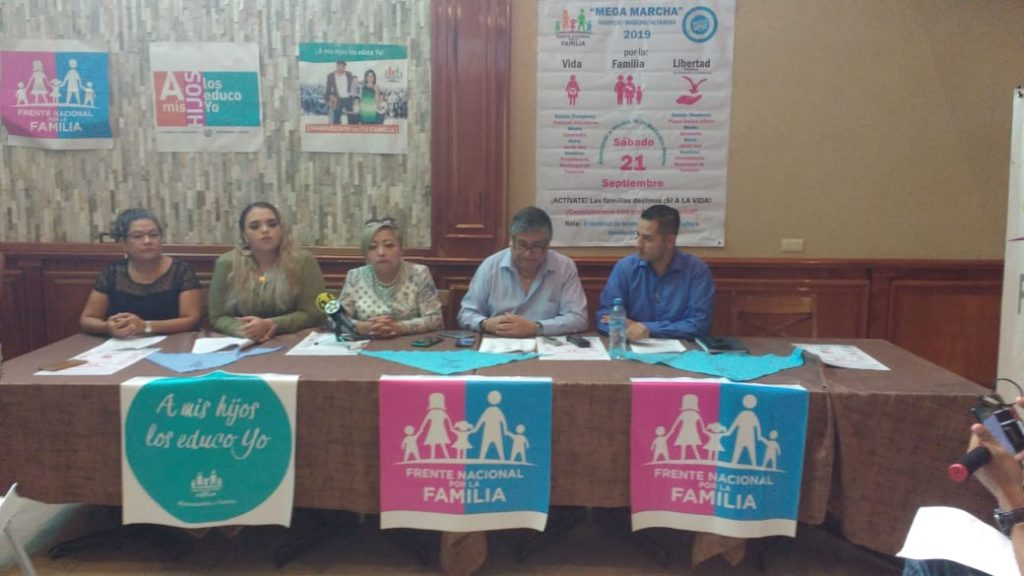 Anuncian mega marcha del Frente Nacional por la Familia