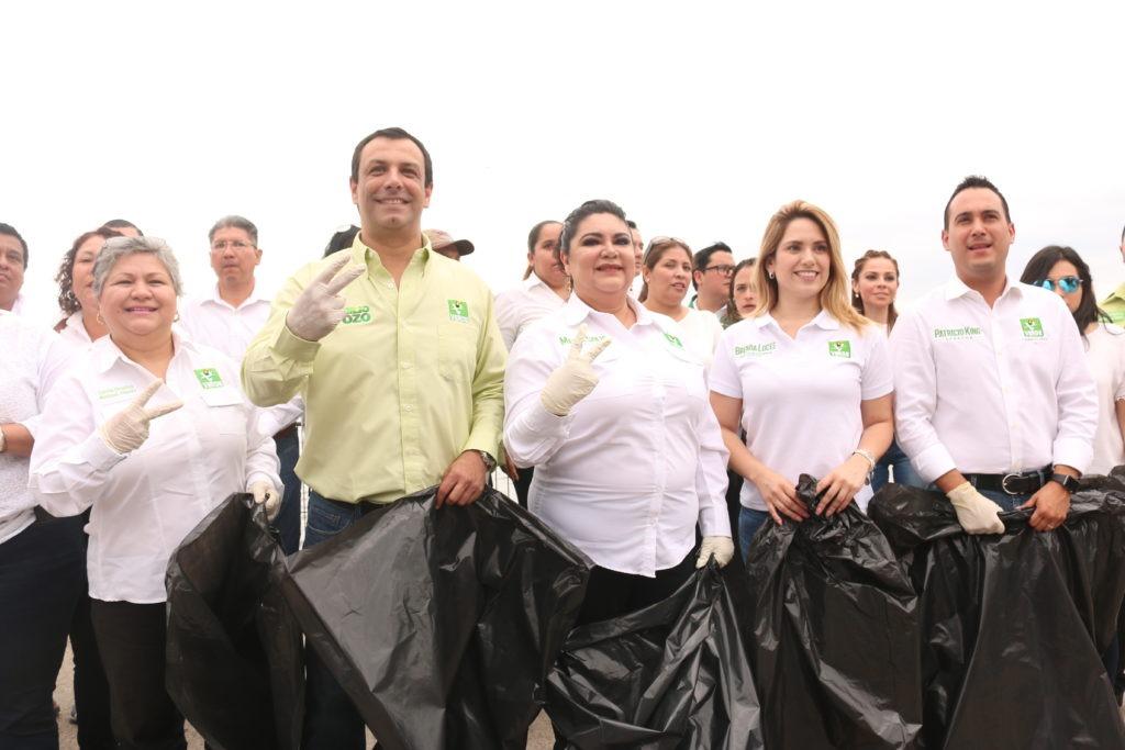Arrancan campaña en Tampico  candidatos al Senado del Partido Verde