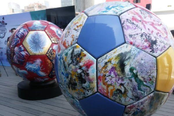 Exhibirán en México y Moscú balones gigantes alusivos al Mundial