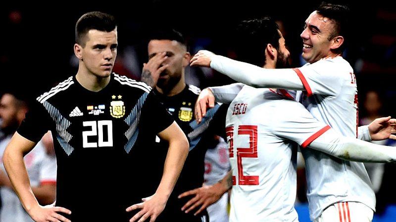 España humilló a Argentina 6-1