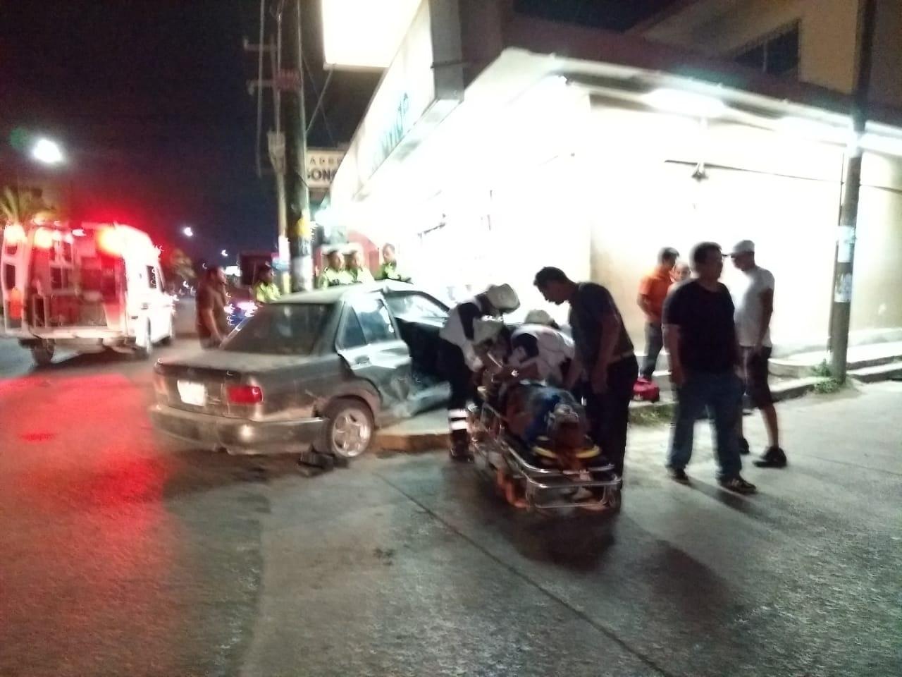 Chocan en zona norte; hay un mujer lesionada