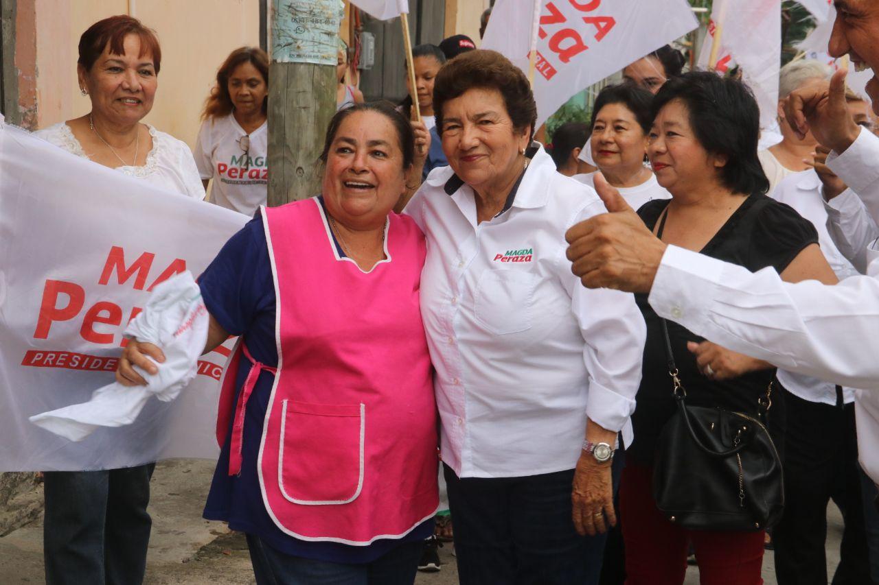Colonia Lauro Aguirre demuestra su apoyo a Magda Peraza