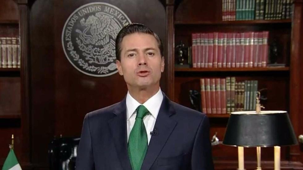 Todos los mexicanos le deseamos una gestión exitosa a López Obrador: Peña Nieto