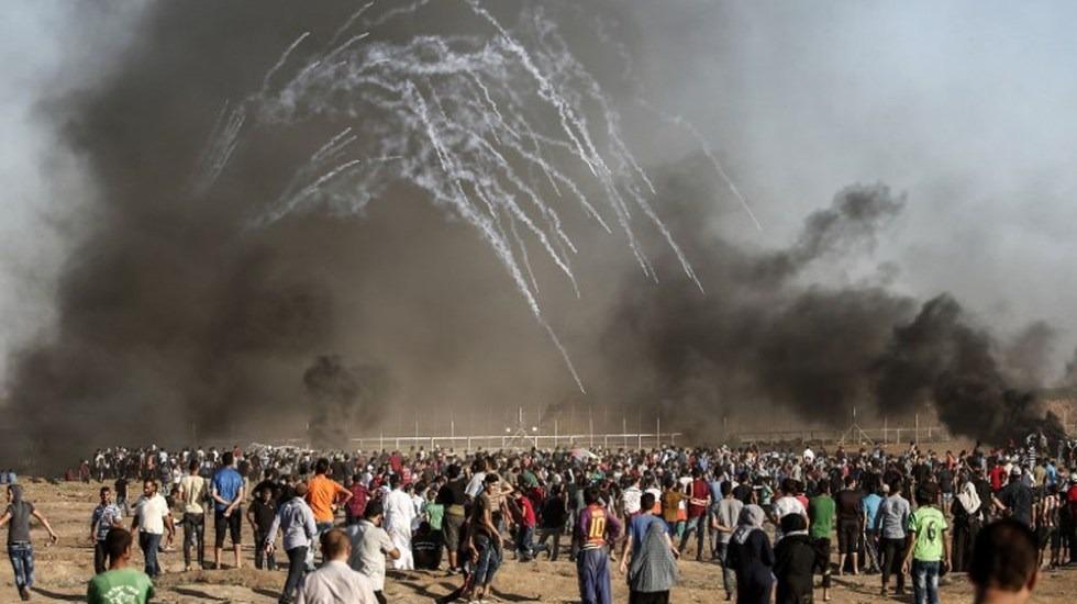 Protestas dejan tres palestinos muertos y más de 90 heridos en Gaza