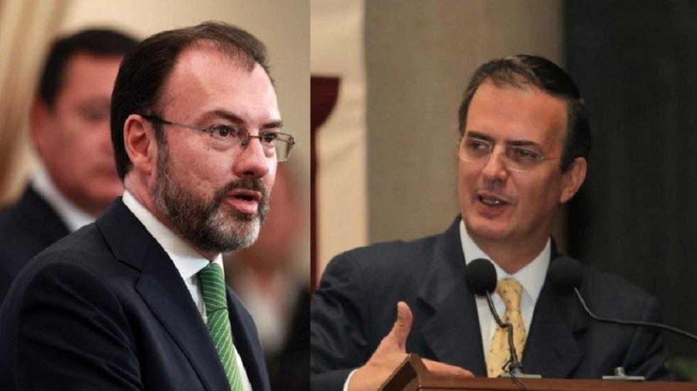 Ebrard y Videgaray inician transición de la SRE