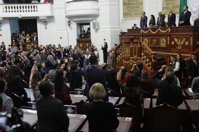 Queda instalado el nuevo congreso de la Ciudad de México