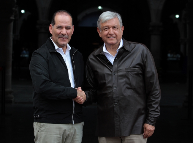 AMLO se reúne con mandatario de Aguascalientes