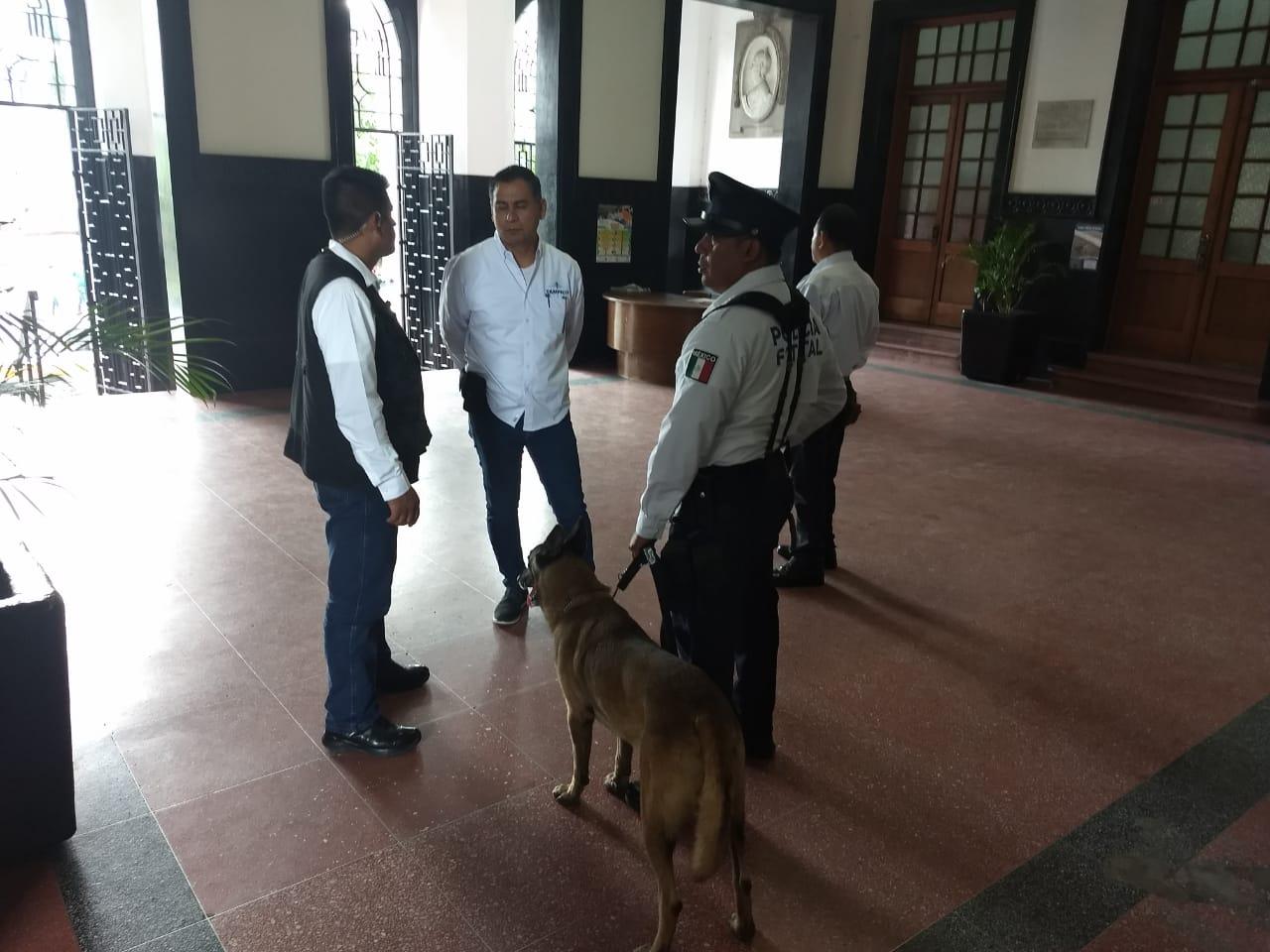 Resguardan Palacio de Tampico por visita del Gobernador
