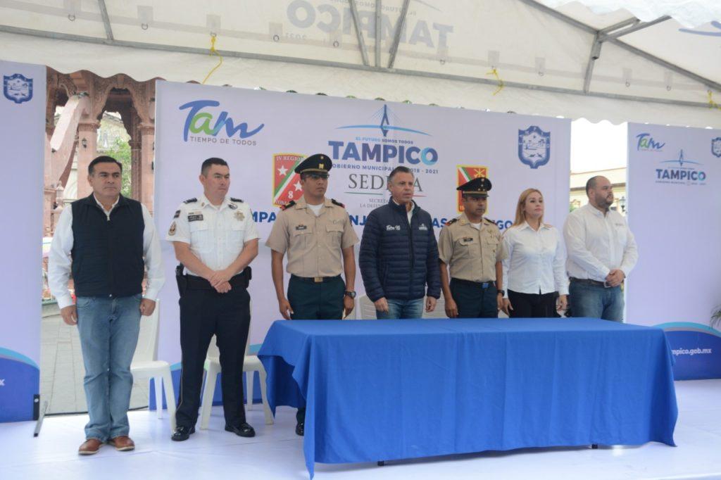 Instala SEDENA Módulo de  Canje de Armas en Tampico