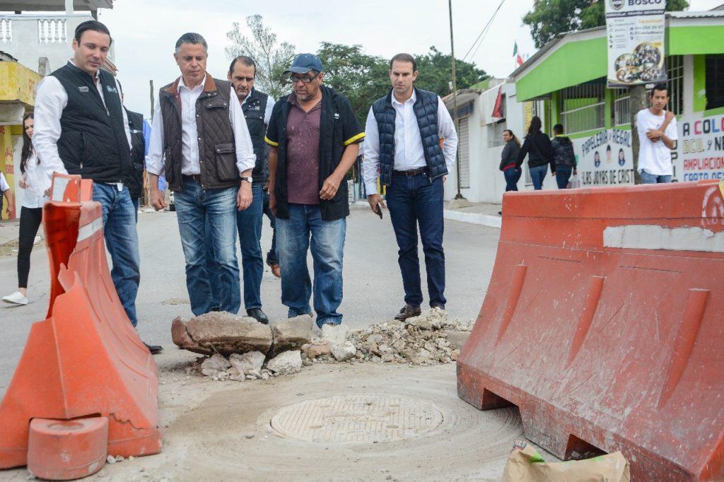Supervisa Chucho Nader reposiciones hechas por COMAPA