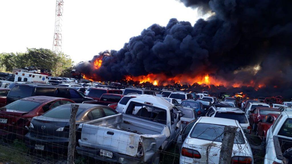 Arde en llamas mesón federal en ALTAMIRA