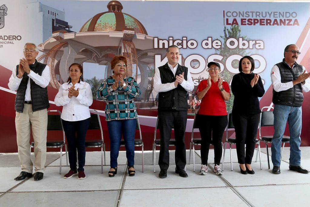 Inicia construcción del nuevo Quiosco en Madero