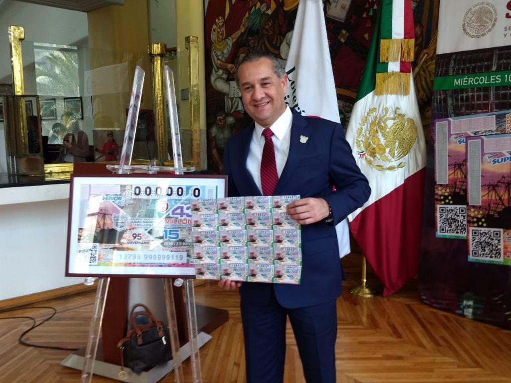 Logra Oseguera distinción a Madero con billete de la Lotería Nacional