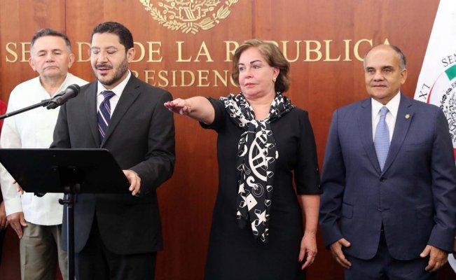 Protesta Paloma Guillén como Senadora; sustituye a Claudia Ruiz Massieu