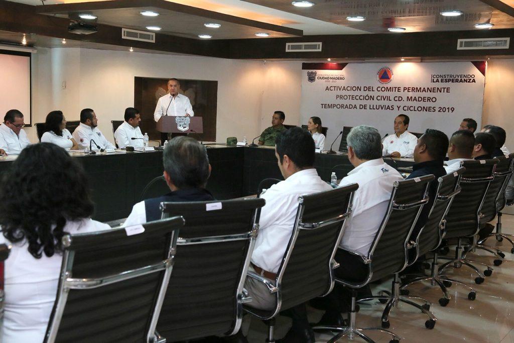 Madero activa Comité de Protección Civil para temporada ciclónica