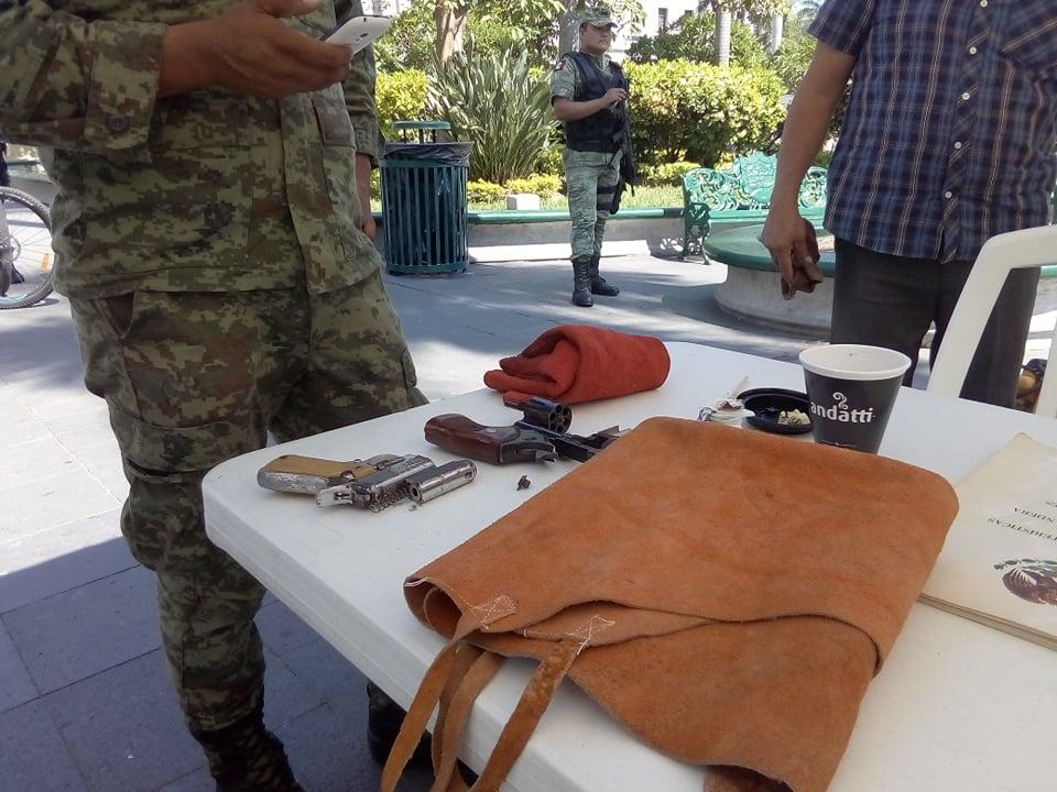 Canjean armas de fuego para evitar las tragedias en Tampico