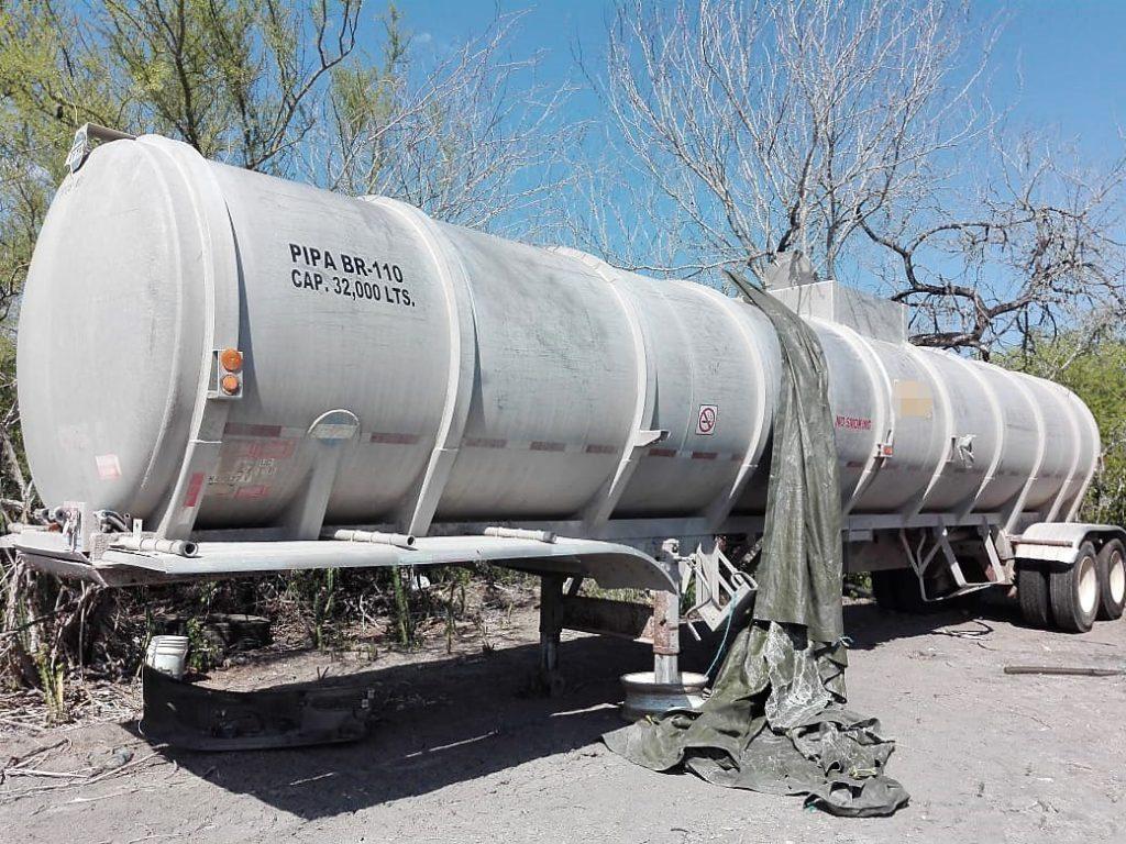 Decomisan trailer y equipo utilizado para contrabando de combustible