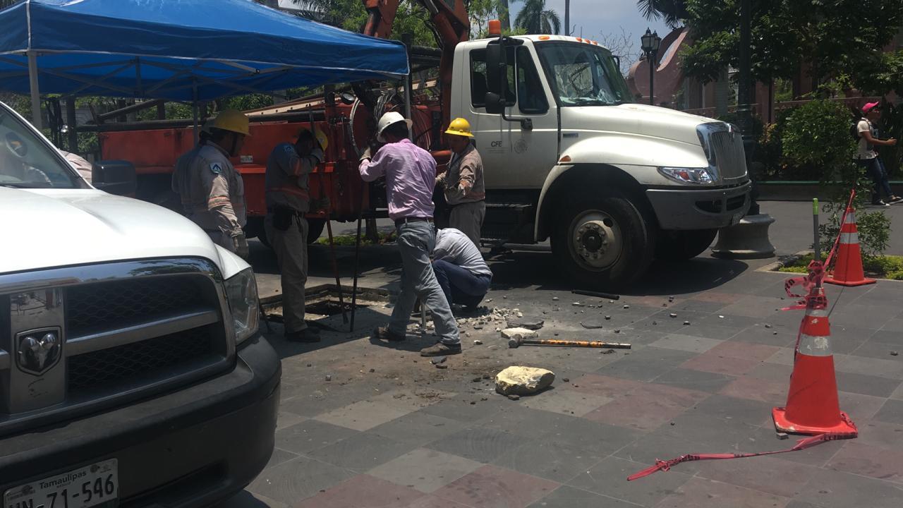Apagones en el centro de Tampico afectan al comercio