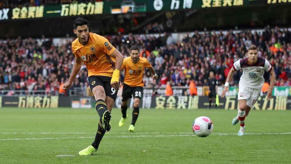 Raúl Jiménez anota en el empate entre Wolverhampton y Southampton