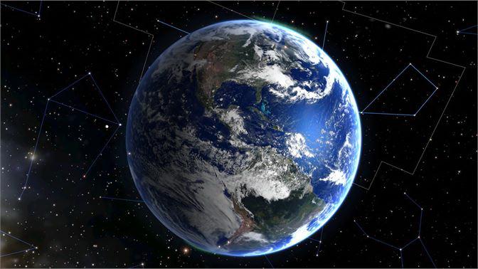 Regalo para las futuras generaciones mapa 3D actual de la Tierra