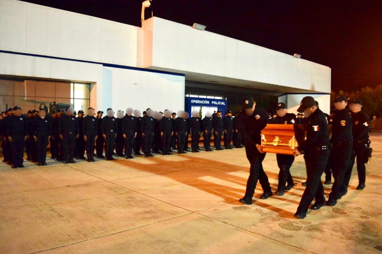 Dan homenaje a Policia caido en Nuevo Laredo