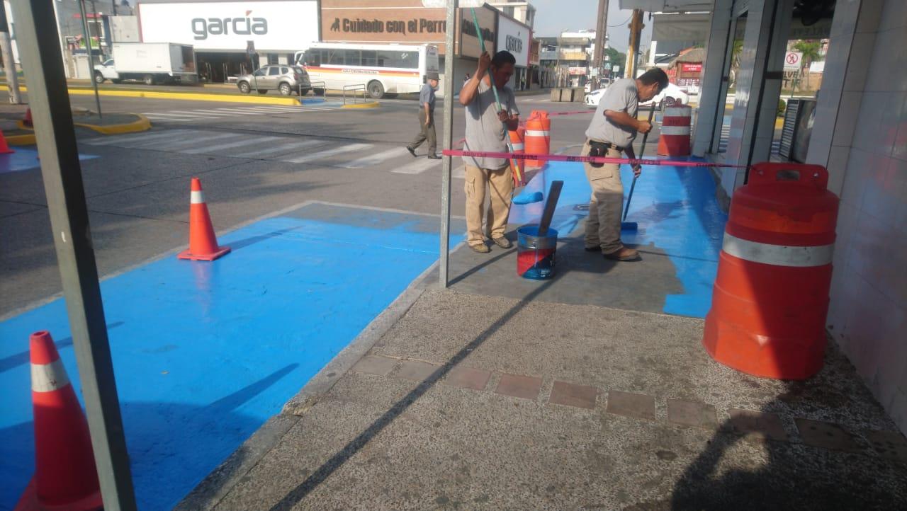 Realizan en Ciudad Madero mantenimiento en rampas incluyentes