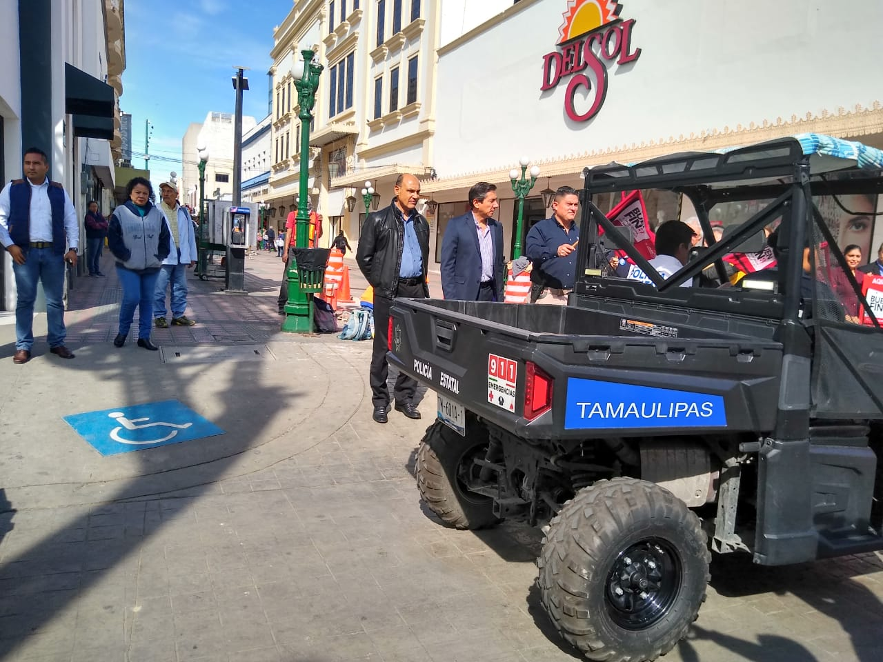Vigilan 495 policias el Buen Fin en Tampico