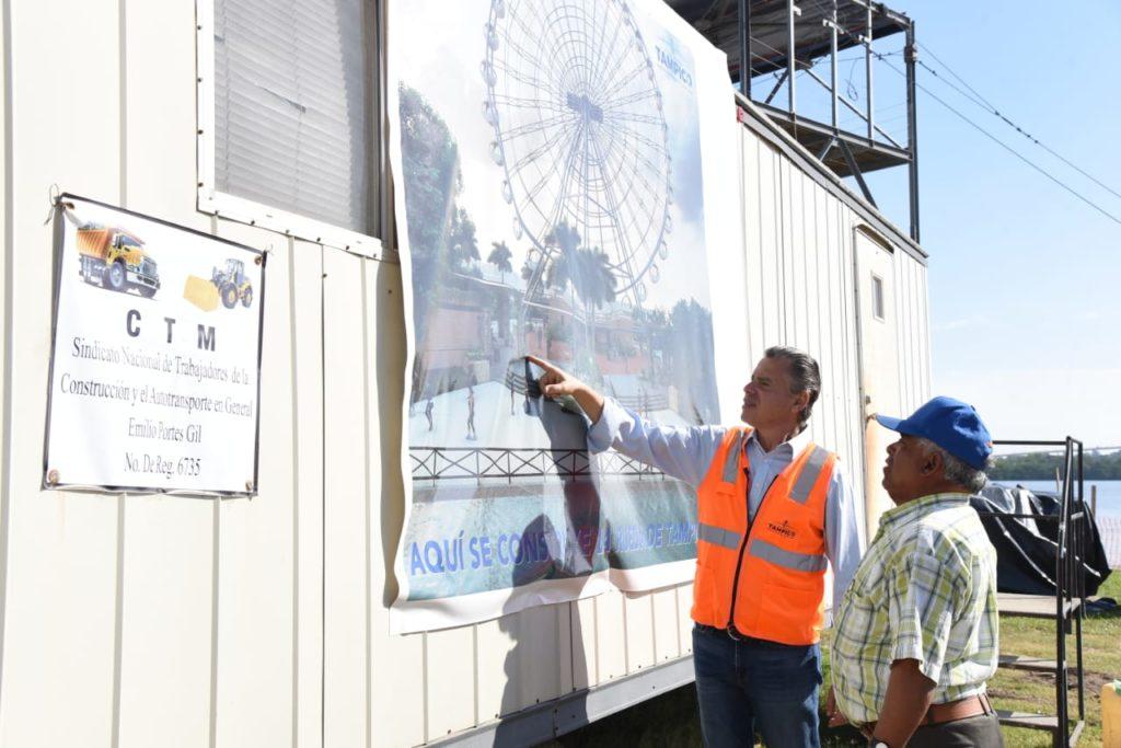 Avanzan los Trabajos de Construcción de la Rueda de la Fortuna en Tampico